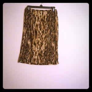 Dresses & Skirts - Super stretchy Animal print skirt Size Medium